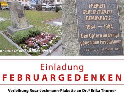 Rosa-Jochmann-Plakette für Erika Thurner
